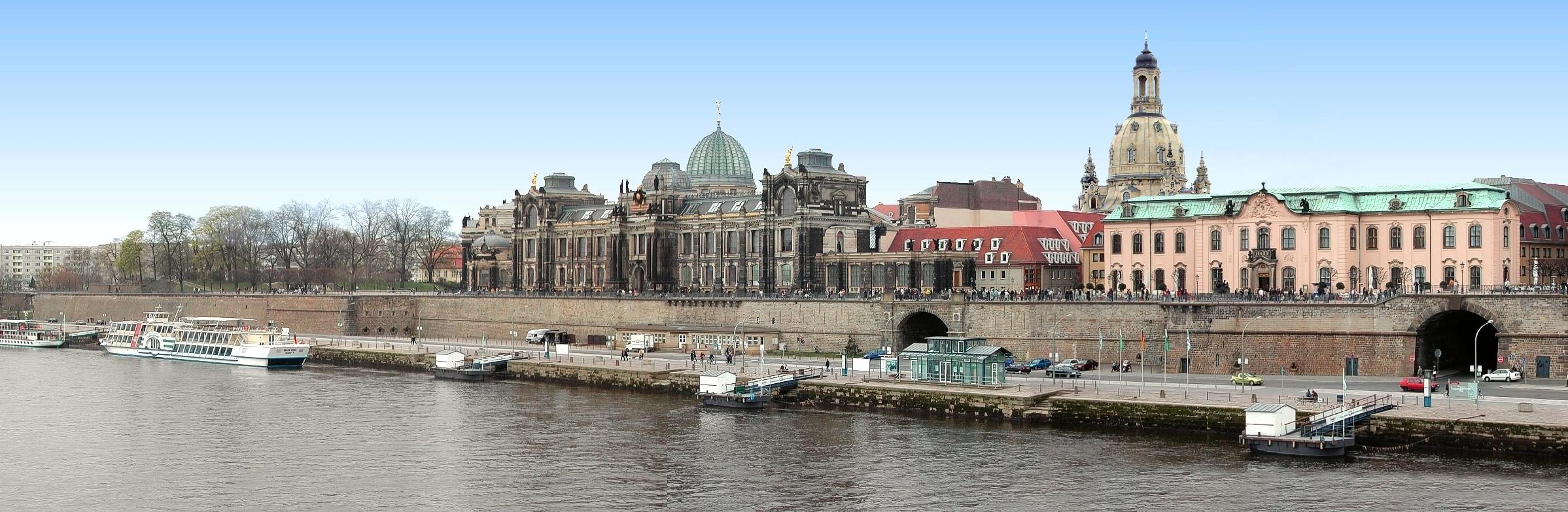 Dresden Und Sachsen Dresden Bruhlsche Terrasse Museum Festung