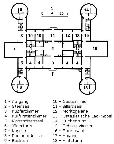 schloss plan von moritzburg